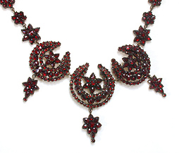 Moon & Stars Bohemian Garnet Necklace