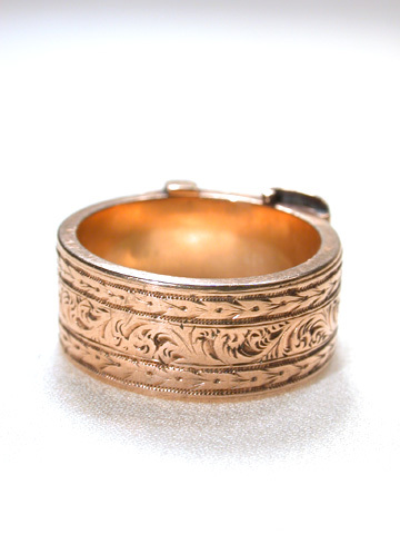 Buckle Locket Ring with Hair