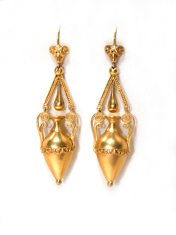 Scarce Victorian Archaeological Revival Earrings