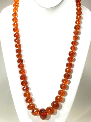 Art Deco Amber Flapper Beads