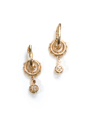 Antique Diamond Earrings - Crescent Moons
