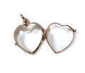 Antique Rock Crystal Heart Locket