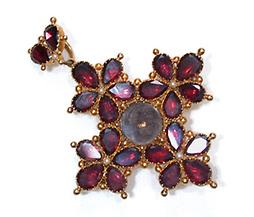 Think of Me: Georgian Garnet Pendant Brooch - The Three Graces