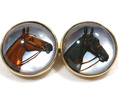 Handsome Essex Crystal Horse Cufflinks