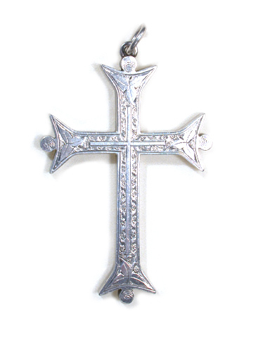 Large Victorian Silver Cross