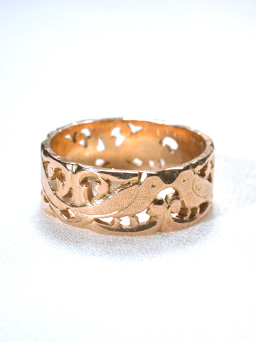 L'Amour est Grand: French Victorian Love Bird Ring