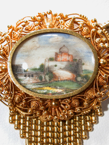 Anglo Indian Miniature Paintings Necklace