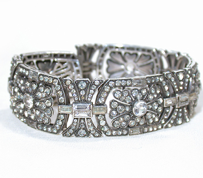 1930s Glamour - Superb German Paste Bracelet