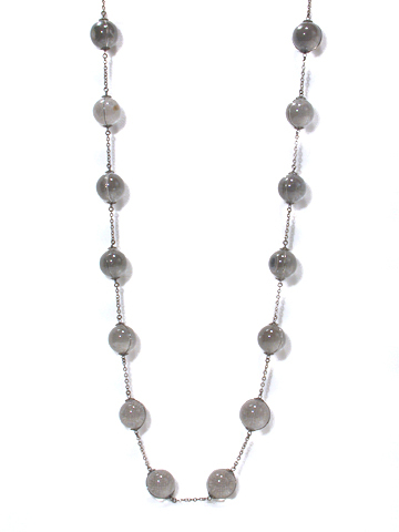 "Art Deco 36"" Pools of Light Necklace"
