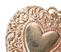 Hearts Afire - Grand  Art Nouveau  Pendant