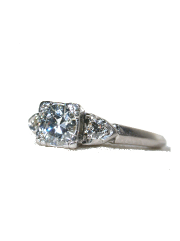 Elegance in a Sleek Diamond Platinum Ring