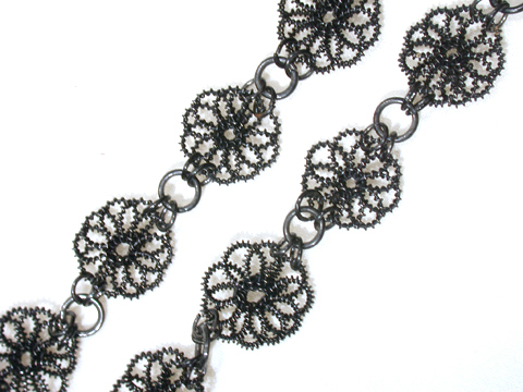 Antique Berlin Iron Wirework Necklace