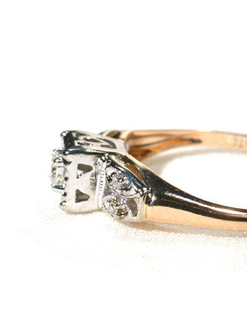 Meeting of Opposites - Gold & Diamond Ring