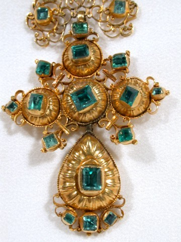Regal Emerald & Gold Iberian Stomacher
