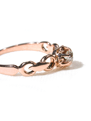 Antique Edwardian Diamond Rose Gold Ring