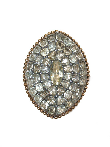 Radiant 18th c. Chrysoberyl Pavé Ring