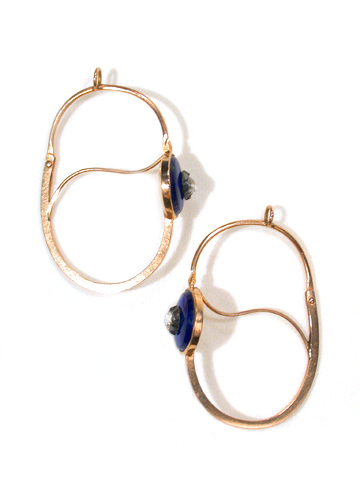 Enamel and Diamond Hoop Earrings circa 1790