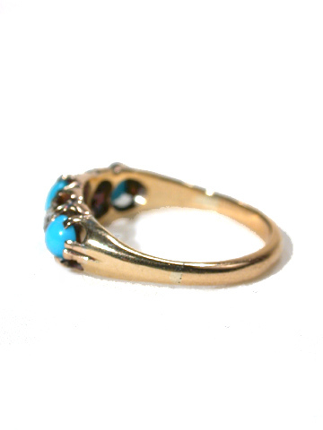Victorian Turquoise & Diamond Gold Ring