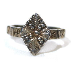 Medieval Magical Silver Gilt Ring