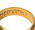 """I Like My Choyce"" in an Antique Poesy Ring"