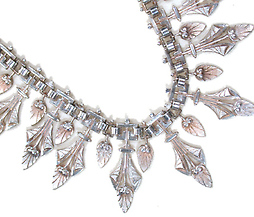Grecian Essence - Silver Victorian Collar Necklace