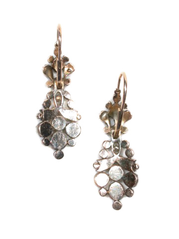 Georgian Diamond Day Night Antique Earrings