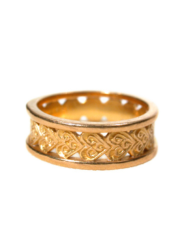 Never-Ending Heart Motif Gold Band 22k
