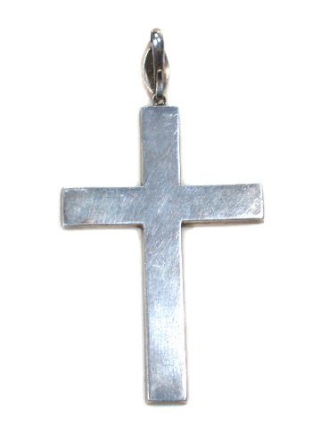 Georgian Silver & Paste Cross Pendant