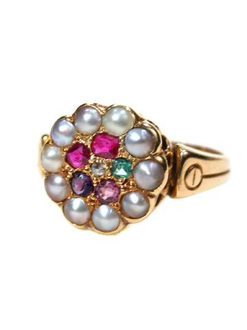 Original and True Sentiment: Victorian Regard Ring