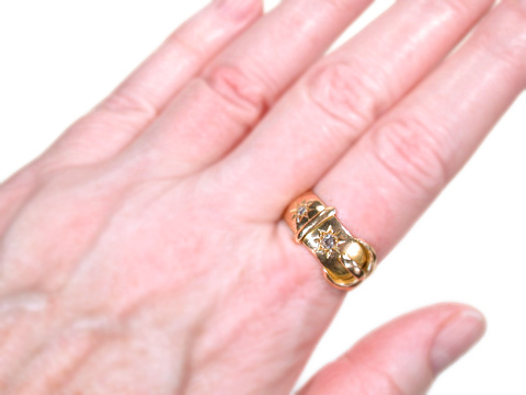 Edwardian Diamond Buckle Ring