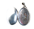 Appliquéd & Patterned Victorian Silver Locket
