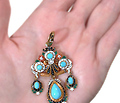 Antique French Girandole Enamel Pendant