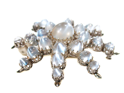 Celestial Dreams - Antique Moonstone Pendant Brooch