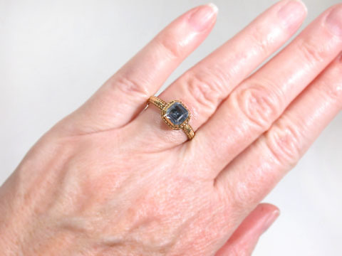 Ethereal Blue Sapphire 17th C. Ring
