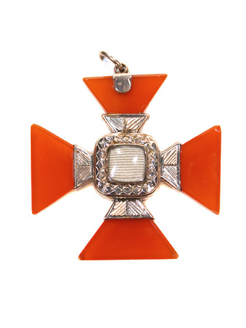 Georgian Carnelian Maltese Cross Pendant