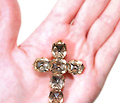 Early 18th C. Topaz Cross Pendant