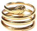 Edwardian 18k Gold Snake Ring