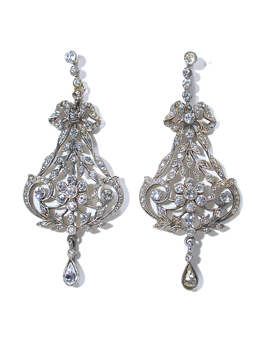 Edwardian Elaborate Paste Earrings