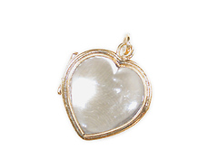 Petite Heart Rock Crystal Locket
