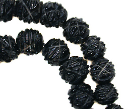 Victorian Whitby Jet  Bead Necklace