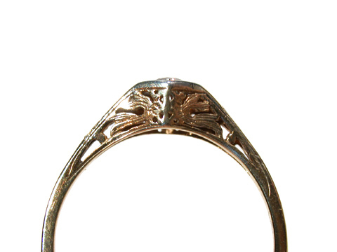 Hand Engraved Art Deco Ring