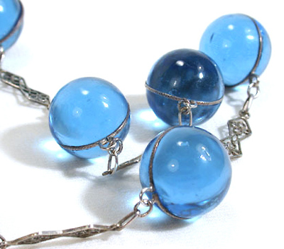 Blue Pools of Light Necklace