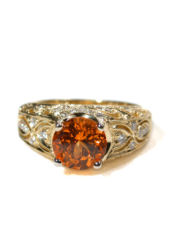 Simon G. Spessartite Garnet Ring