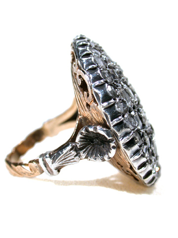 Infinite Circle - Antique Diamond Cluster Ring