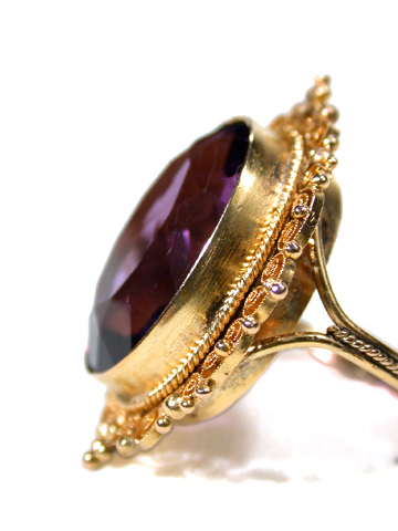 Antique Amethyst Filigree Ring