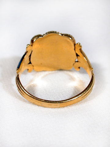 Georgian Diamond & Pearl Ring in Gold