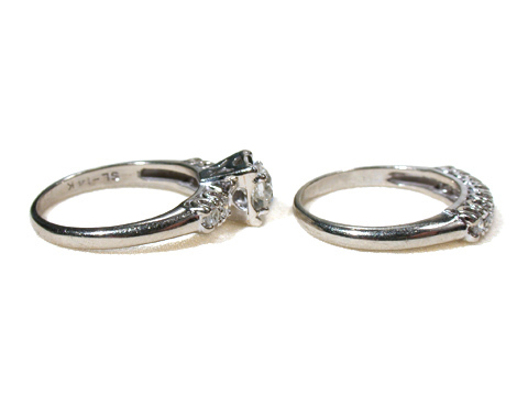 Diamond Rings – Vintage Wedding Set