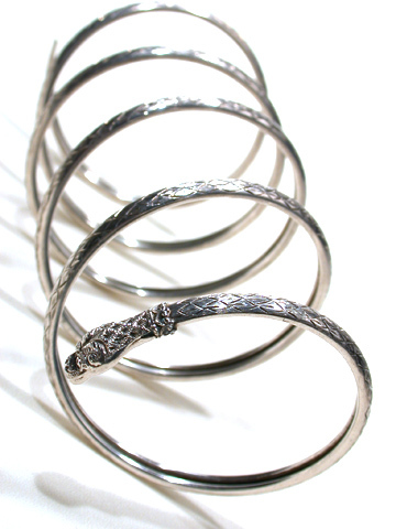 Age of the Flapper: Art Deco Snake Bangle