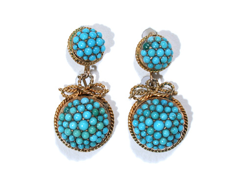Victorian Turquoise Double Drop Earrings