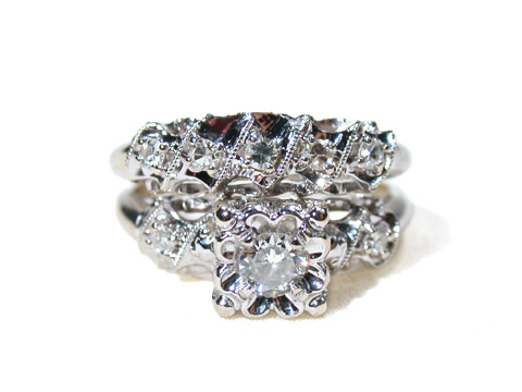 Diamond Rings - Matching Wedding Set